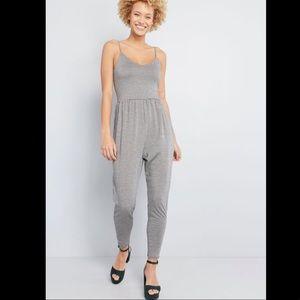 ModCloth gingham knit jumpsuit